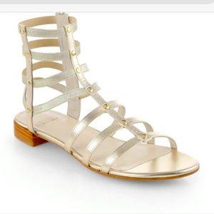 Stuart Weitzman Gold Gladiator Ankle Sandal 7